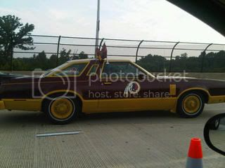 Ugly Redskins Car